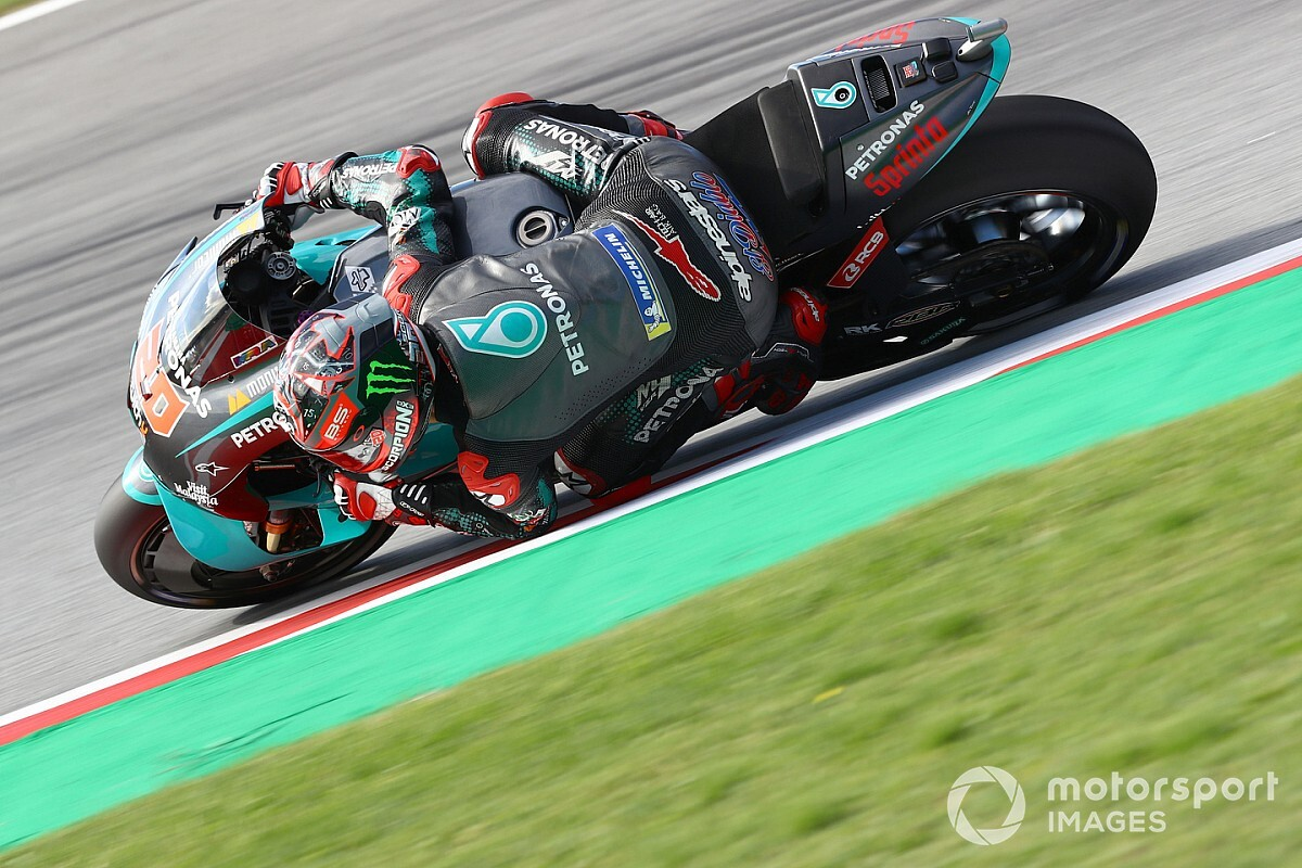 Barcelona MotoGP: Quartararo leads Vinales in FP3 - Motorsport