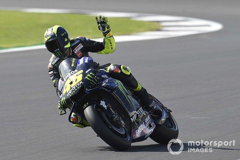 Rossi apretó el ritmo cuando vio a Márquez presionar