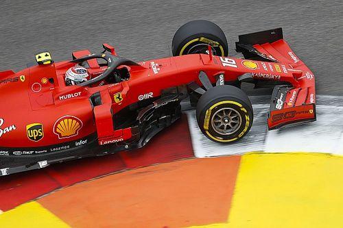 Leclerc lidera un 1-2 de Ferrari en la tercera práctica