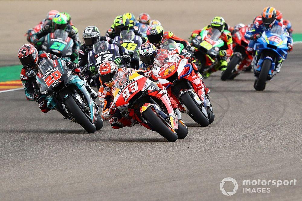 Положение в зачете MotoGP после ГП Арагона