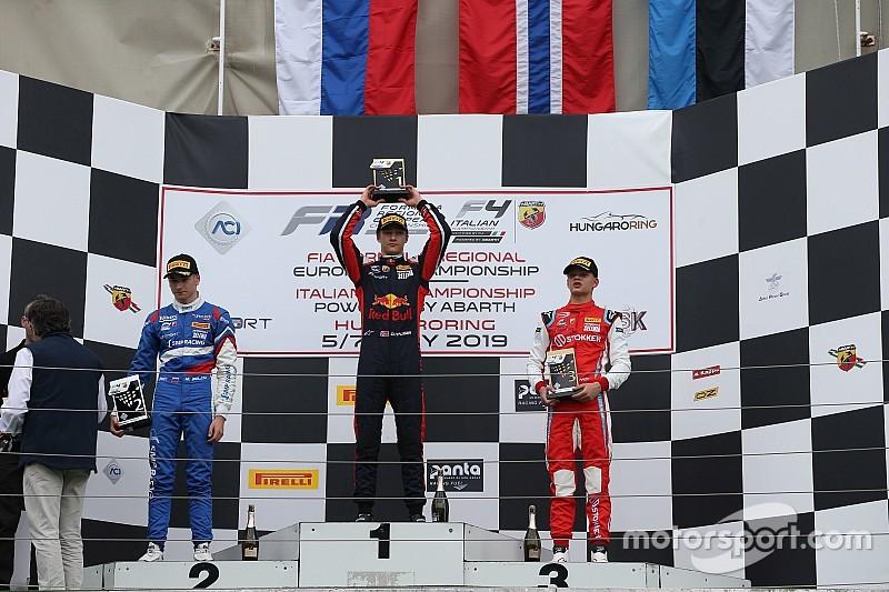 F4, Hungaroring: Hauger e Petecof si dividono i successi in Gara 2 e Gara 3