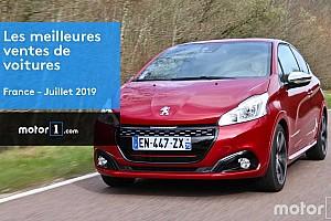 Les 10 voitures les plus vendues en France en juillet 2019