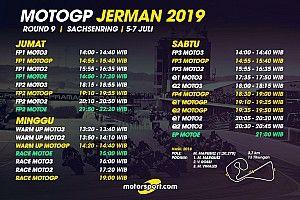 Jadwal lengkap MotoGP Jerman 2019