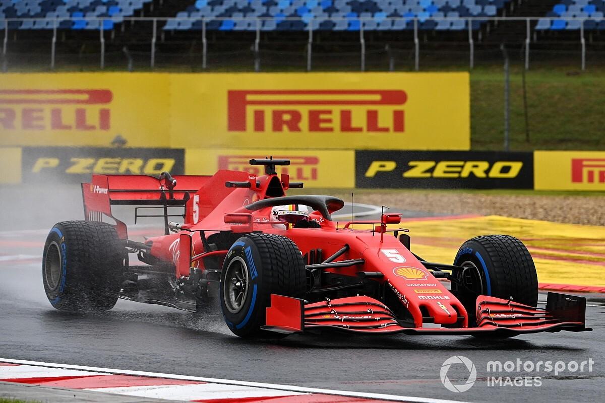 F1ハンガリーFP2速報:雨で不完全燃焼なセッションに。ベッテルがトップタイム