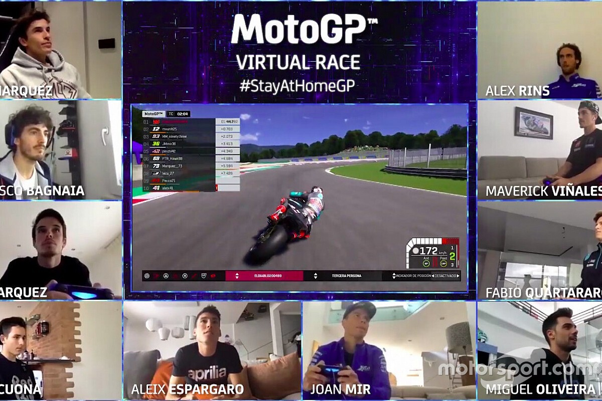 Llega la tercera carrera virtual entre pilotos de MotoGP