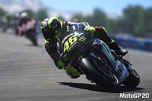 Alex Marquez wint virtueel MotoGP-crashfest, podium voor Rossi