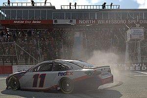 Denny Hamlin wins North Wilkesboro eNASCAR finale