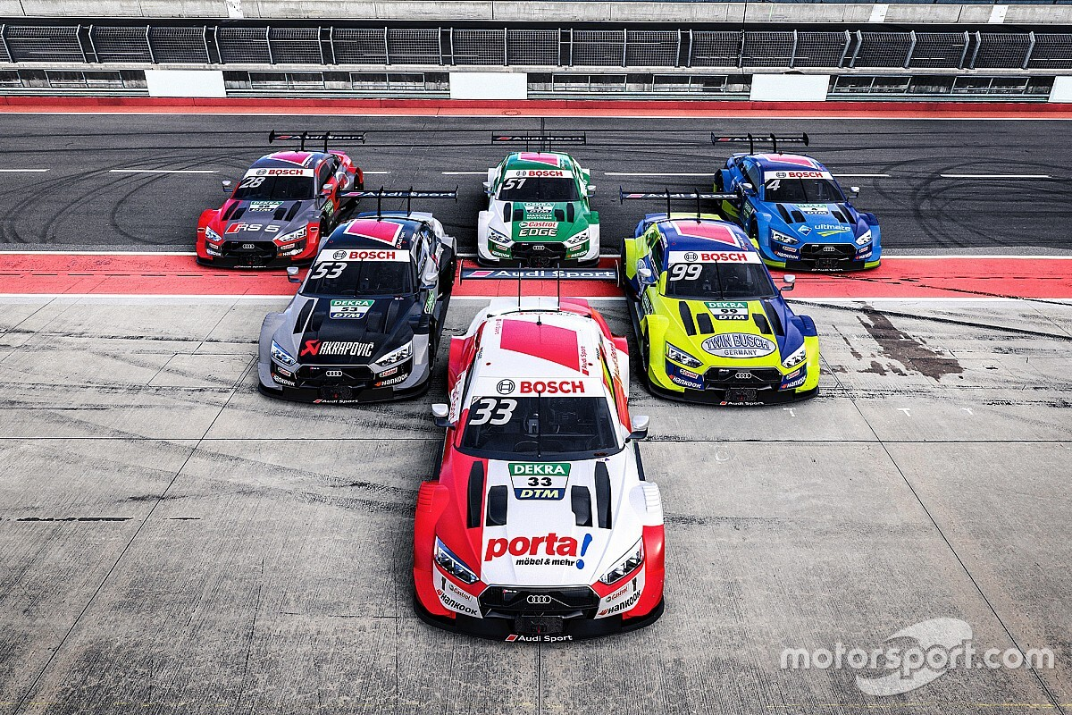 Audi reveals liveries for DTM title defence in 2020