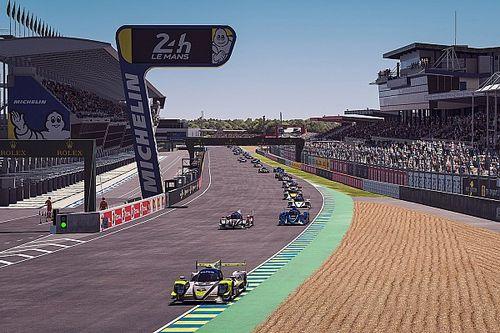 El Le Mans virtual de Alonso y Barrichello duró poco