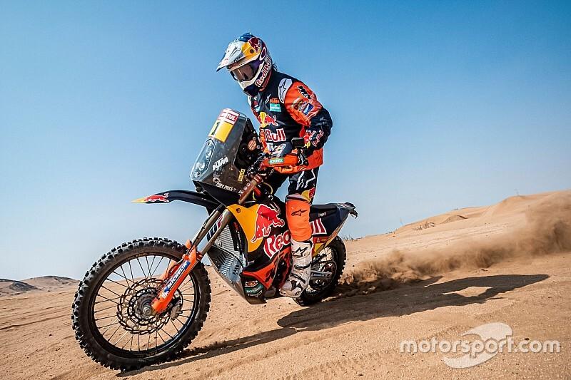 """Dakar, Moto, Tappa 1: Price primo """"re d'Arabia"""""""