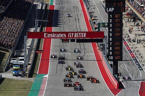 Volledige uitslag van F1 GP Amerika