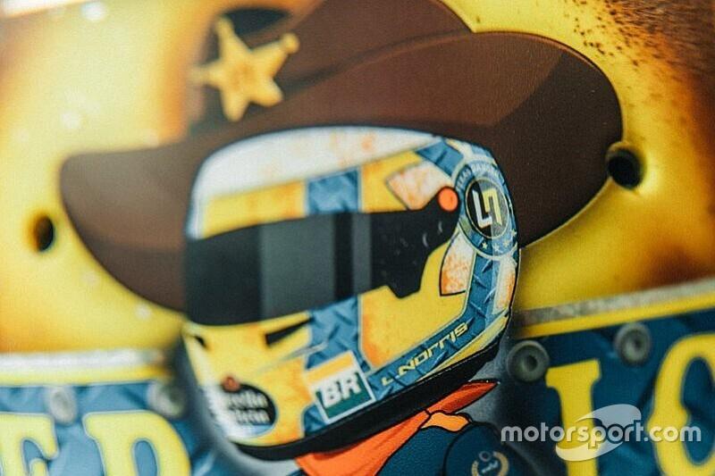 Norris újabb pofás F1-es sisakfestése, ezúttal Amerikából