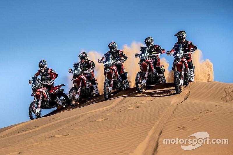 Skład Hondy na Dakar
