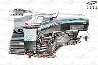 【F1メカ解説】メルセデス強さの秘密。パワーユニットだけじゃない……秀逸・俊敏な空力開発