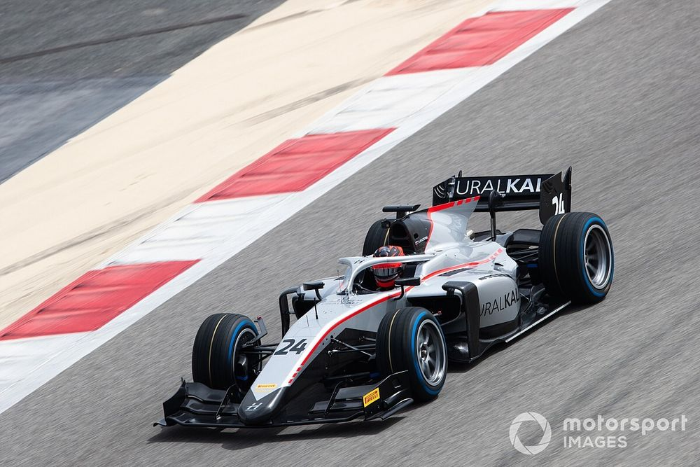 Bahrain F2: Mazepin leads Carlin duo in stop-start practice