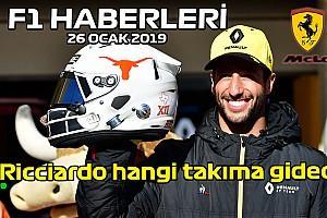 Video: Ricciardo hangi takıma gidecek? - 26 Ocak Pazar F1 ve Motor Sporları Haberleri