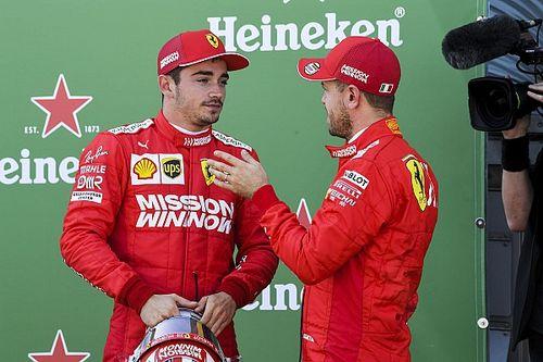 Leclerc over Vettel: 'Kan altijd van mijn teamgenoot leren'