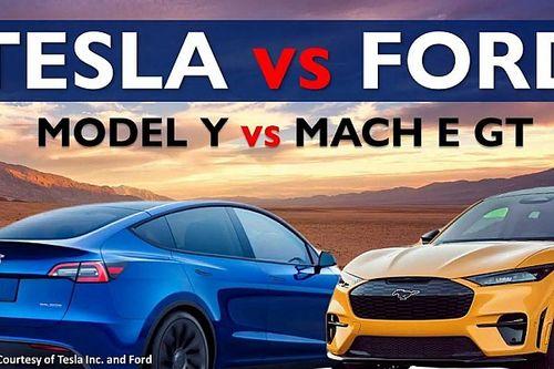 Video: Összehasonlításban a Tesla Model Y Performance és a Mustang Mach-E GT