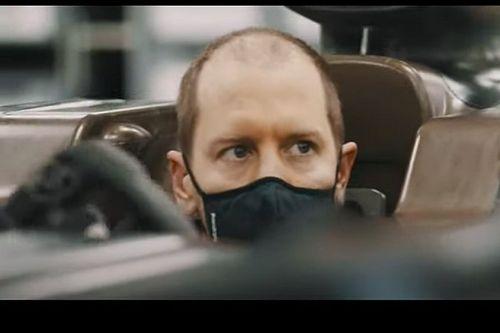 Aston Martin publica un vídeo de Vettel y su look sorprende