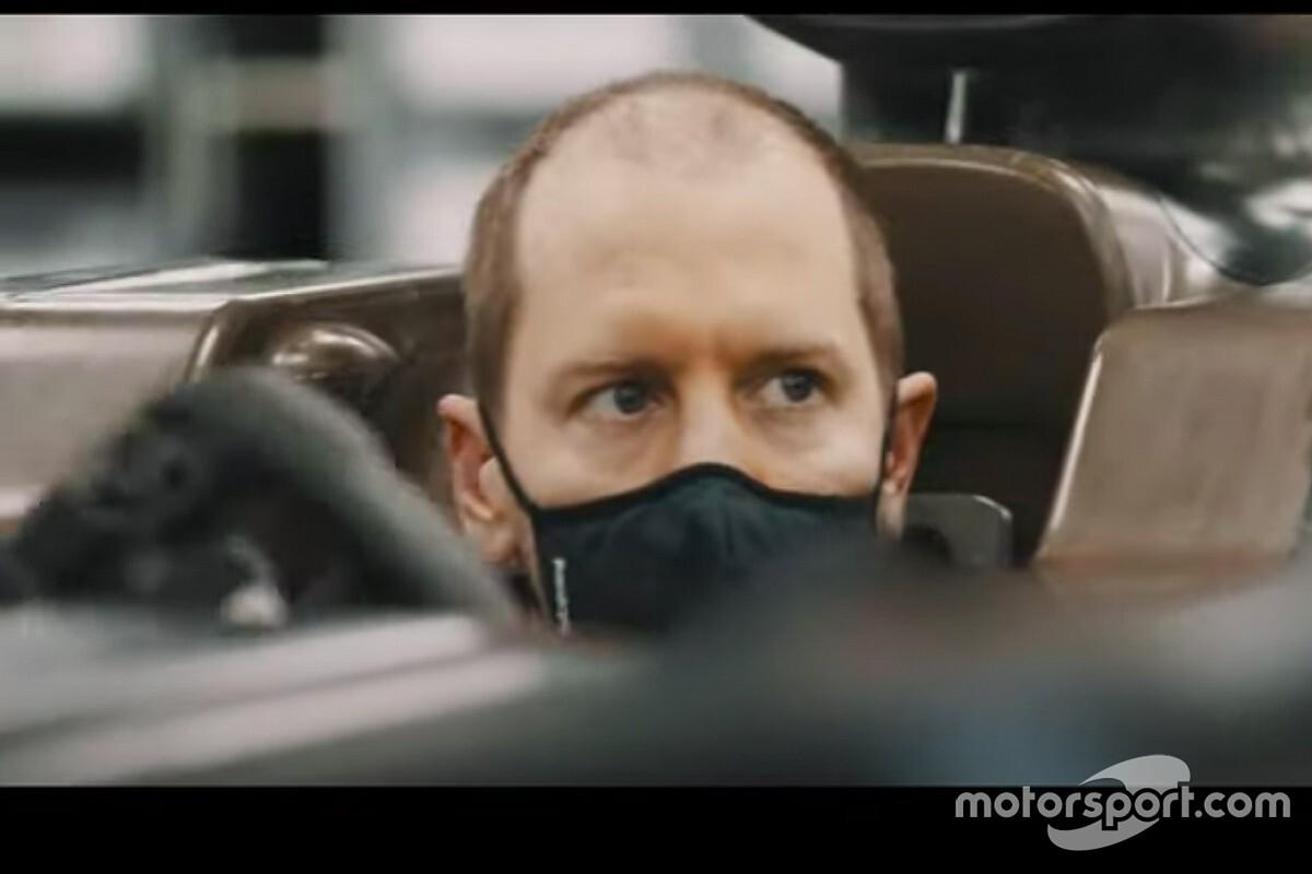 El nuevo look de Sebastian Vettel con Aston Martin sorprende
