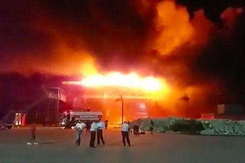 Brutal incendio en el Circuito de Termas de Río Hondo
