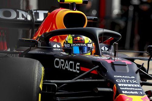 Pérez perdió la pole por un error en la última curva