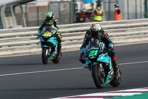 Morbidelli tops Qatar MotoGP FP1 as Miller crashes
