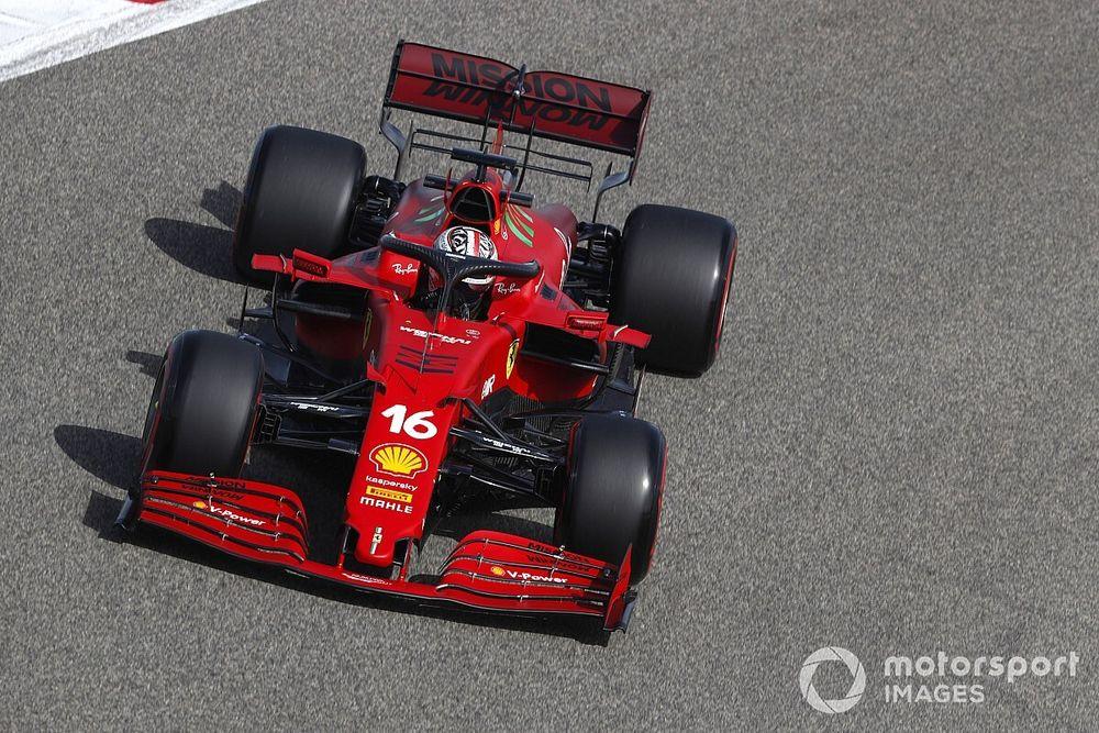 لوكلير متفاجئ من أداء فيراري التنافسي خلال تجارب البحرين الحرة