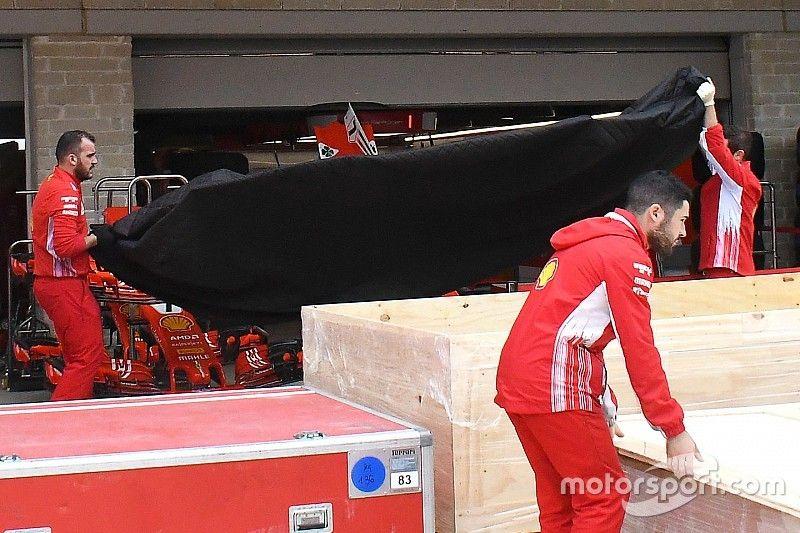 Ferrari: arrivato nella pit lane il nuovo fondo modificato per Austin