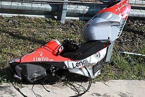 Galería: Lorenzo destrozó la Ducati tras caerse en Buriram