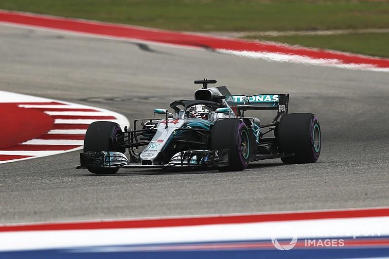 Hamilton op pole voor titel in Austin, dertiende startplek Verstappen