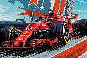 Формула 1 в комиксах. Художник Marvel рассказал, как рисовал постер для Ferrari