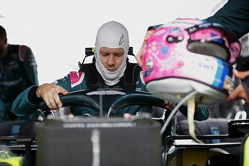 """F1 - Vettel: """"Arriscar com pneus de pista seca era a única forma de pontuar"""""""