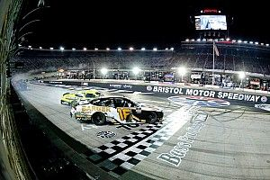 Allmendinger crashes across the line to win wild Xfinity race