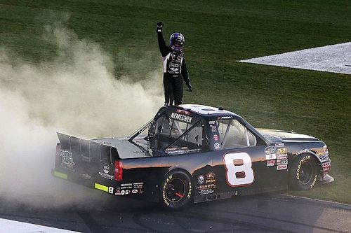 John Hunter Nemechek wins in rough and wild finish at Atlanta