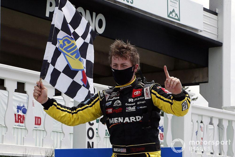 Brandon Jones bests Creed in wild finish to Pocono Truck race