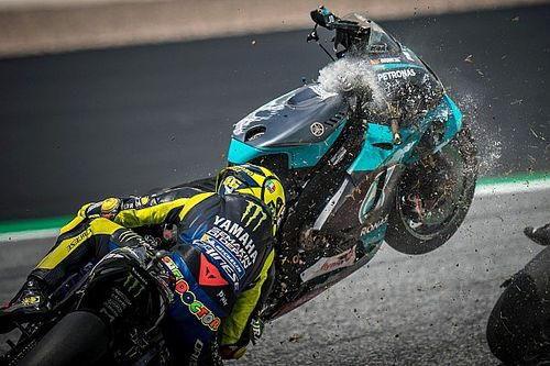 "Rossi reveals he ""didn't even see"" Morbidelli's flying bike"