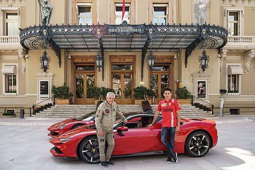 Vídeo: Leclerc, en el rodaje del polémico remake en Mónaco