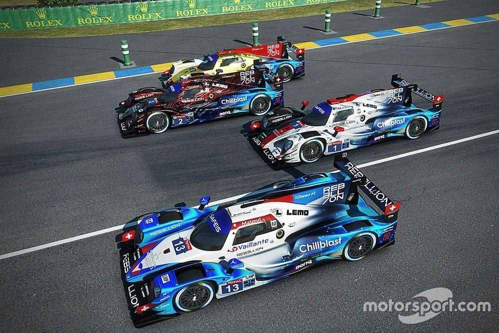 Canapino y Guerrieri en la pelea por podio en Le Mans virtual