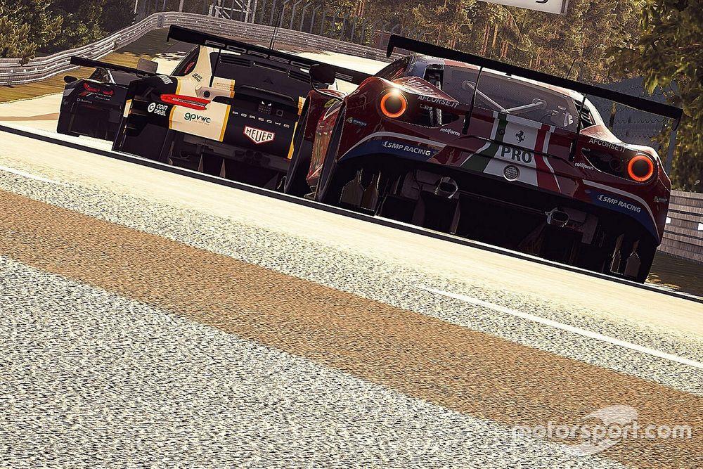 Virtual Le Mans, 19a Ora: gara costante per le Ferrari
