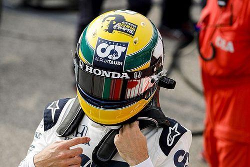 Gasly, Imola'da kullandığı kaskı Senna vakfına bağışladı!