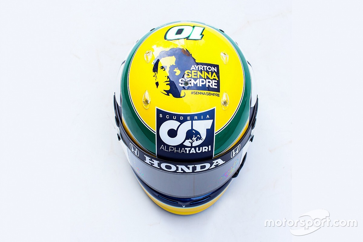 Gasly divulga capacete com homenagem a Senna para GP em Ímola