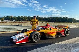 Hunter-Reay backs aeroscreen after wet test on road course