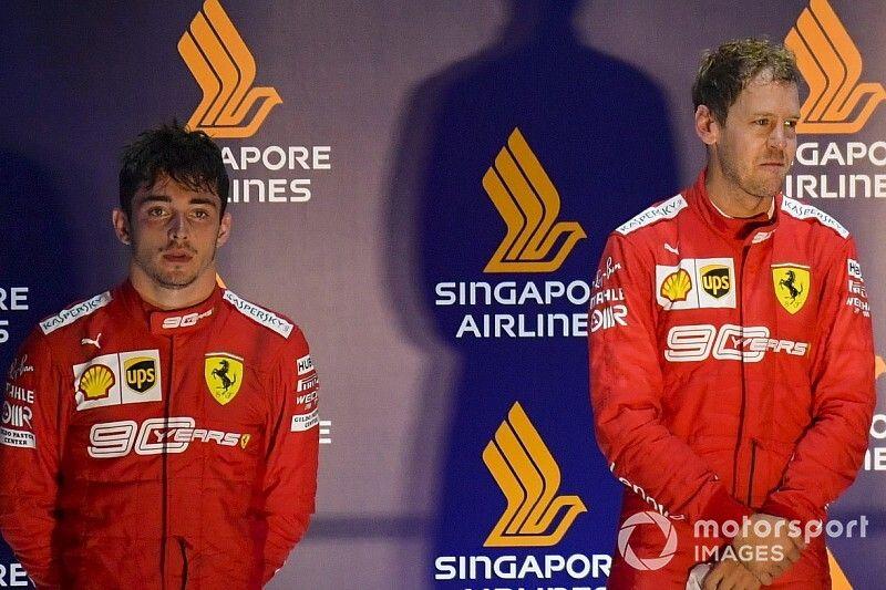 """Binotto : Ferrari a """"considéré une inversion"""" entre Vettel et Leclerc"""
