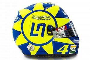 Fotos: Norris estrena un casco en homenaje a Rossi