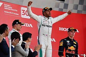 """Hamilton, orgulloso y agradecido por la """"bestia"""" de Mercedes en Japón"""