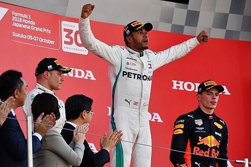 Hamilton apunta a su quinto campeonato tras ganar en Japón