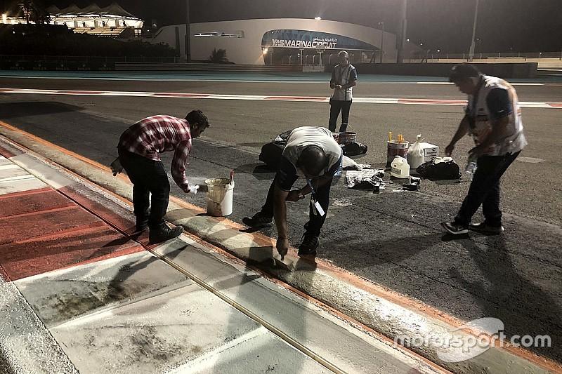 Гонщики раскритиковали рассыпающийся поребрик-«сосиску» в Абу-Даби