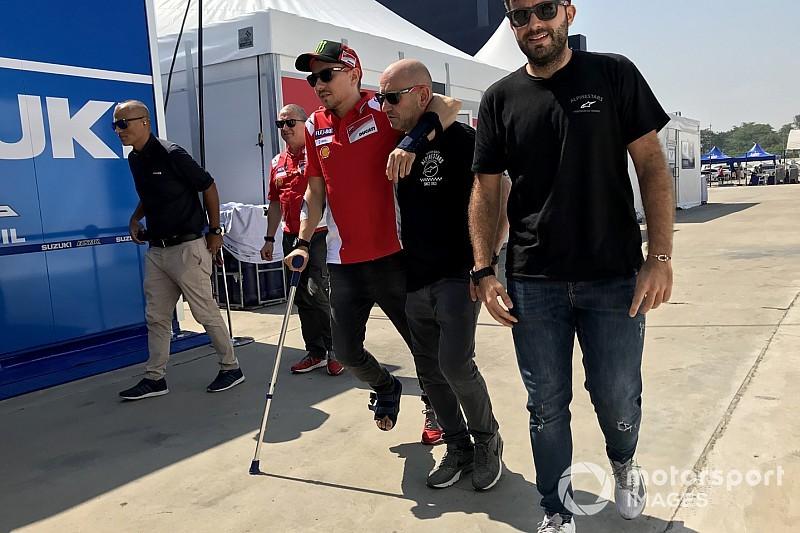 Jorge Lorenzo si arrende al dolore: non correrà neanche in Giappone