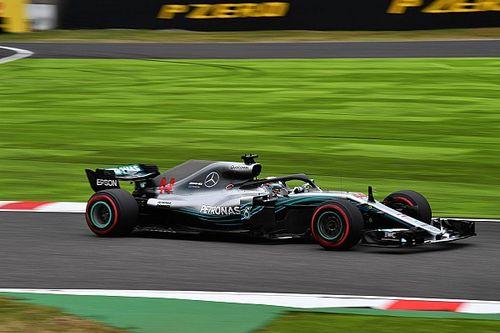 F1: Hamilton festeggia l'80esima pole in Giappone, disastro Ferrari